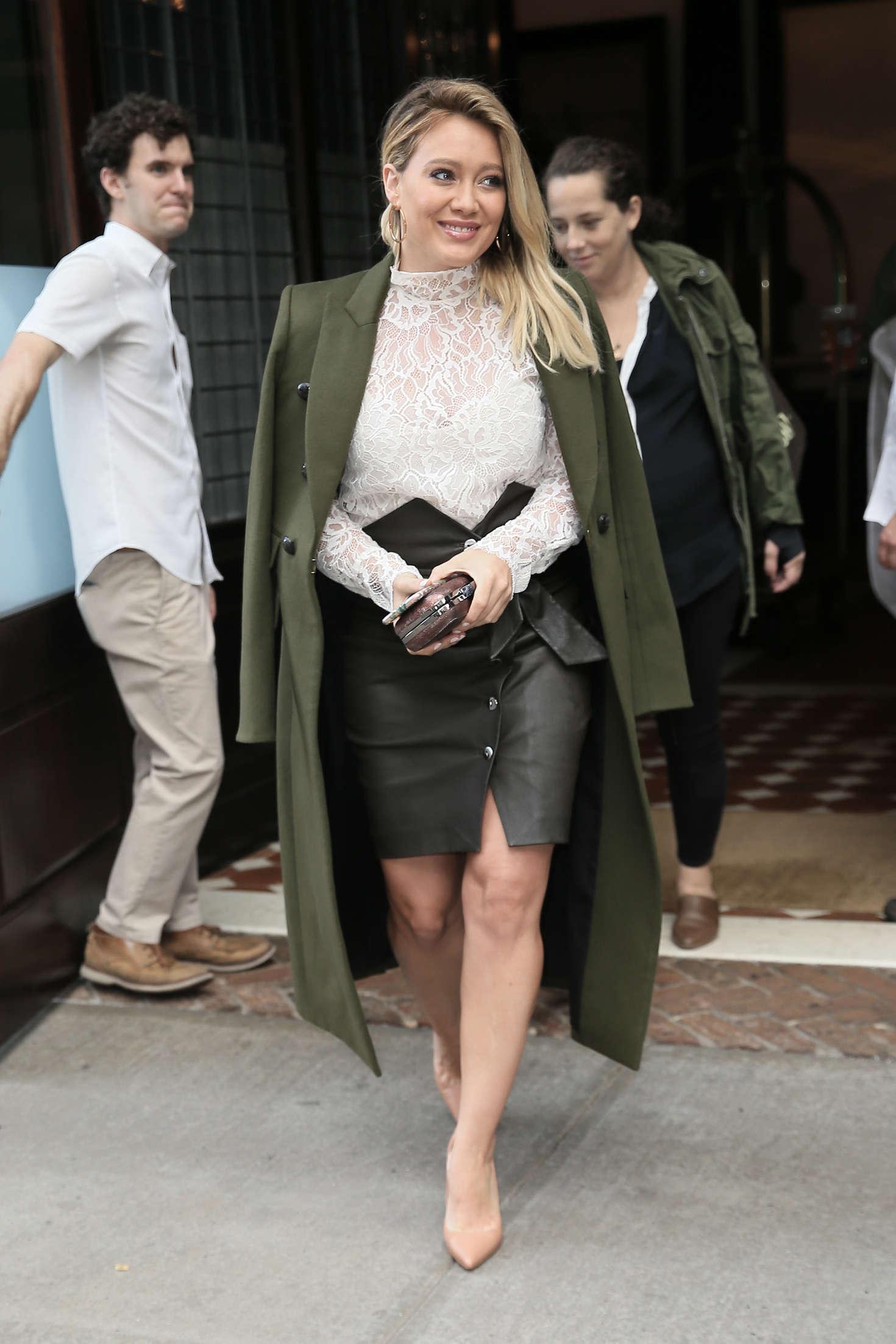 Hilary Duff 2016 : Hilary Duff: Leaving her Tribeca Hotel in New York -09