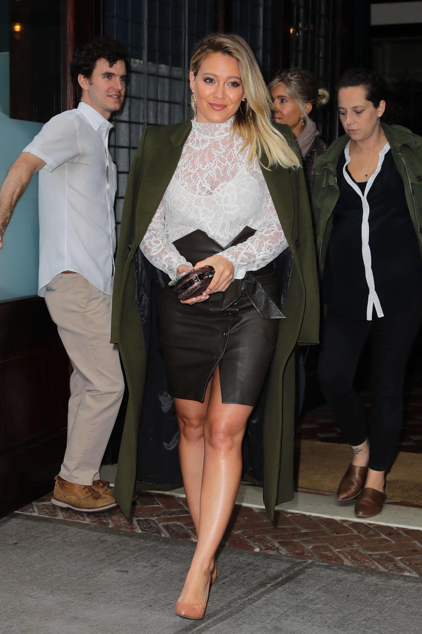 Hilary Duff 2016 : Hilary Duff: Leaving her Tribeca Hotel in New York -13