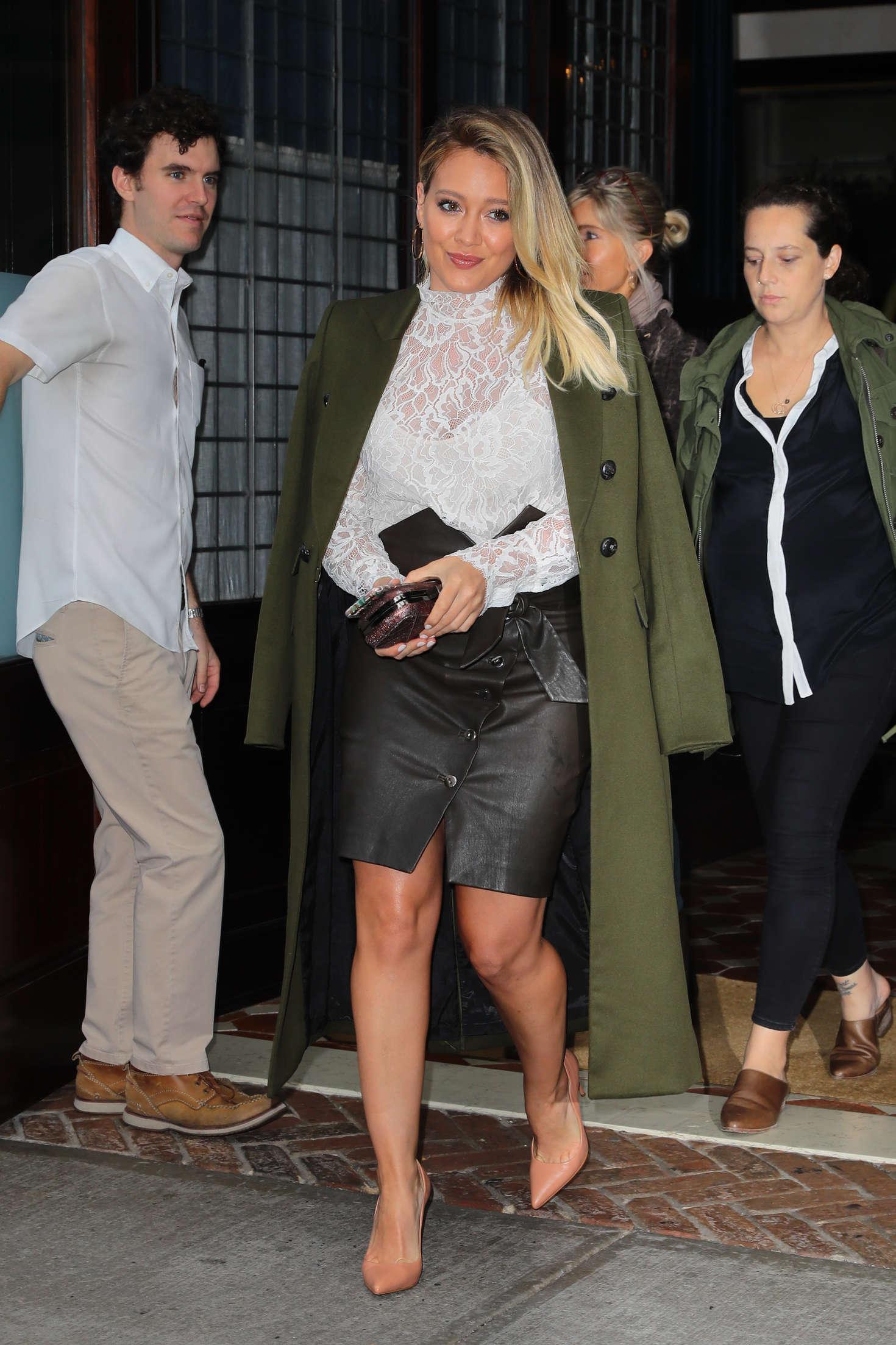 Hilary Duff 2016 : Hilary Duff: Leaving her Tribeca Hotel in New York -16