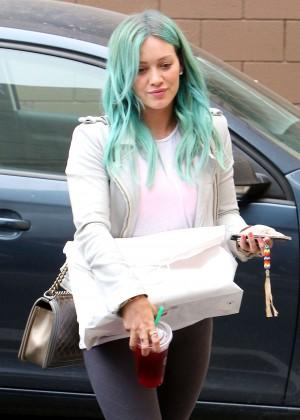 Hilary Duff - Leaving Nine Zero One Salon in West Hollywood