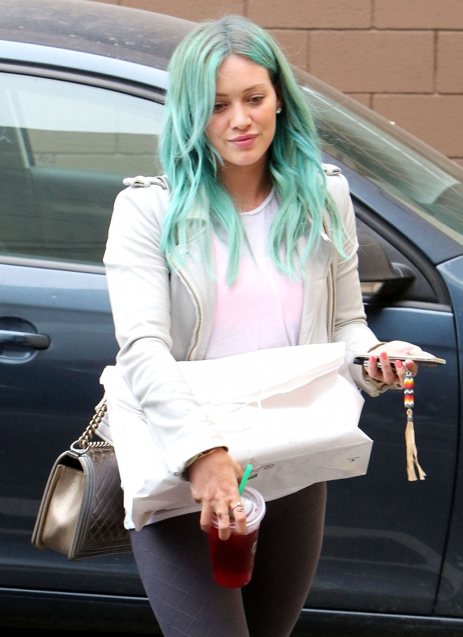 Hilary Duff - Leaving Nine Zero One Salon in West Hollywood