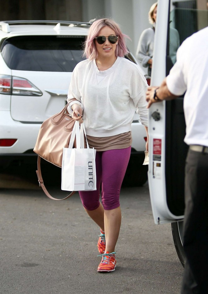 Hilary Duff Leaving the Nine Zero One Salon in West Hollywood