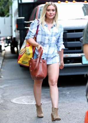 Hilary Duff - Leaving The Set of 'Younger' in New York City