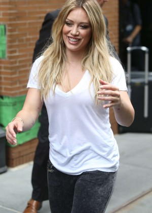 Hilary Duff - Leaving 'The View' in NYC