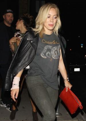 Hilary Duff - Leaving Warwick Club in Hollywood