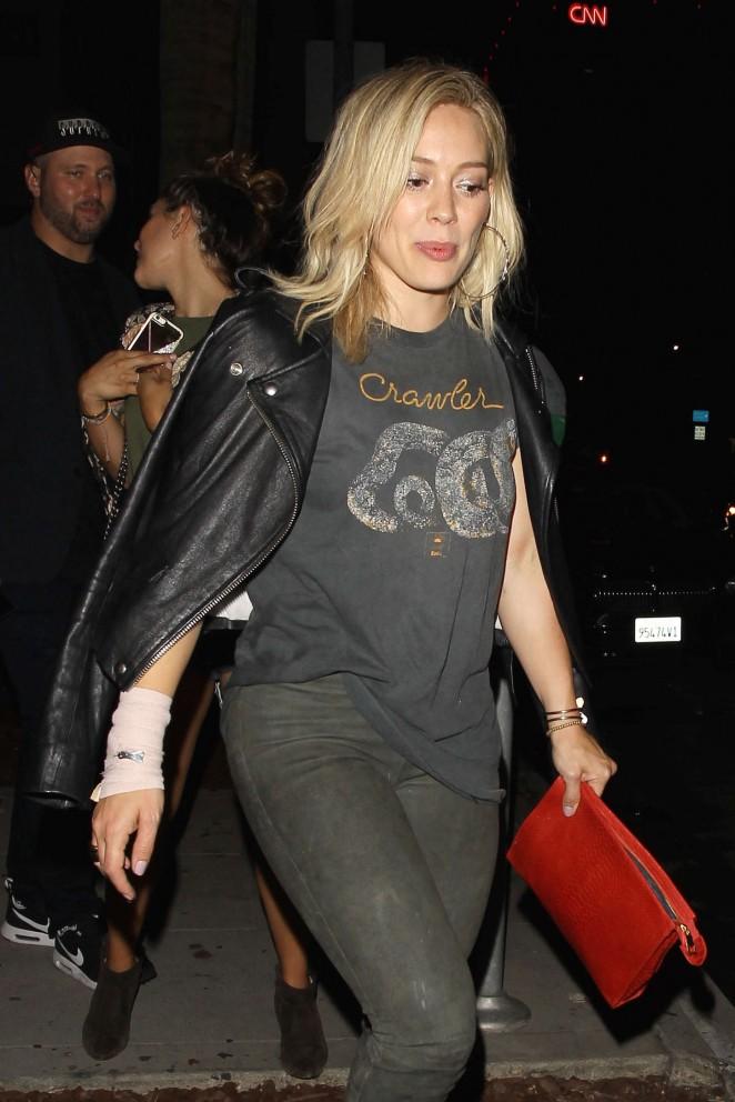 Hilary Duff – Leaving Warwick Club in Hollywood