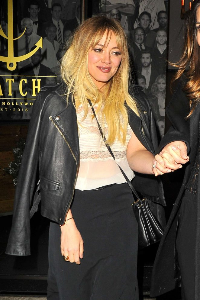 Hilary Duff night out at Catch LA in West Hollywood
