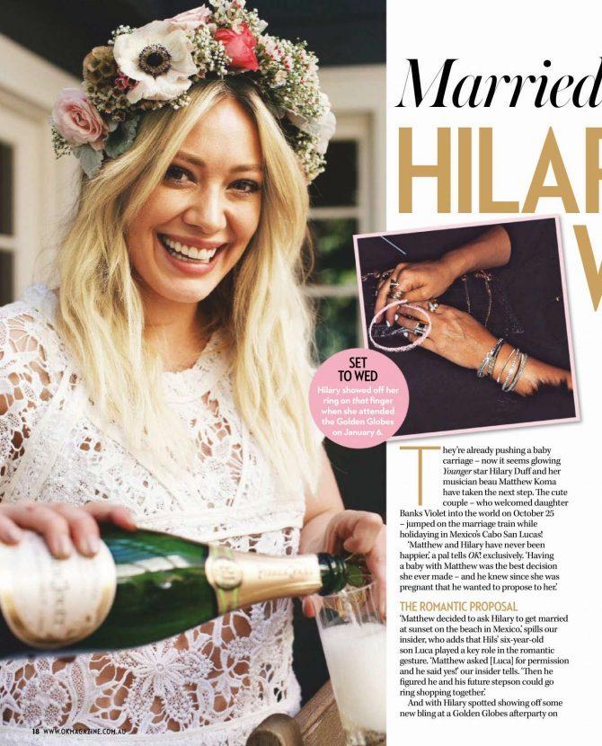 Hilary Duff: OK! Australia Magazine 2019 -02