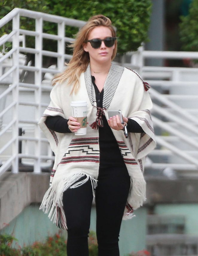 Hilary Duff on a Rainy Day in Studio City