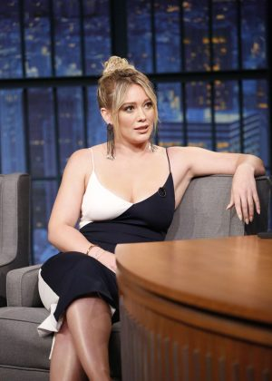 Hilary Duff on 'Late Night with Seth Meyers' in New York City