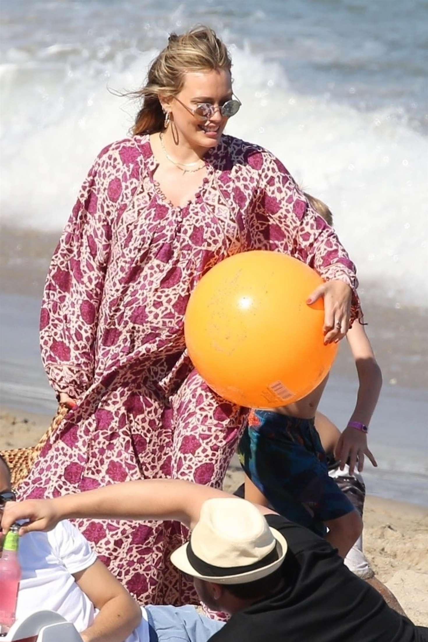 Hilary Duff - On the beach for the 4th of July in Malibu