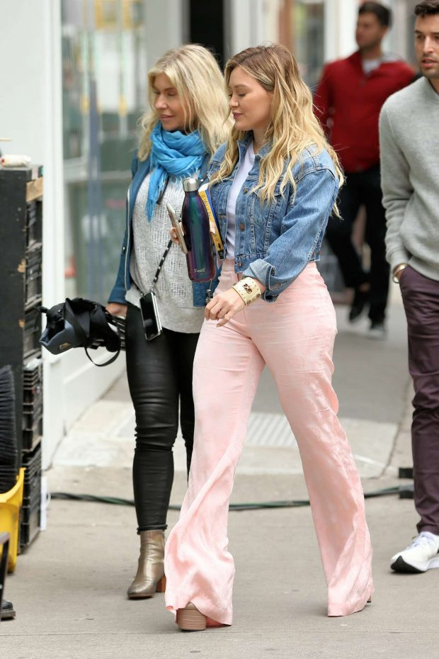 Hilary Duff on the set of Younger in New York City -02