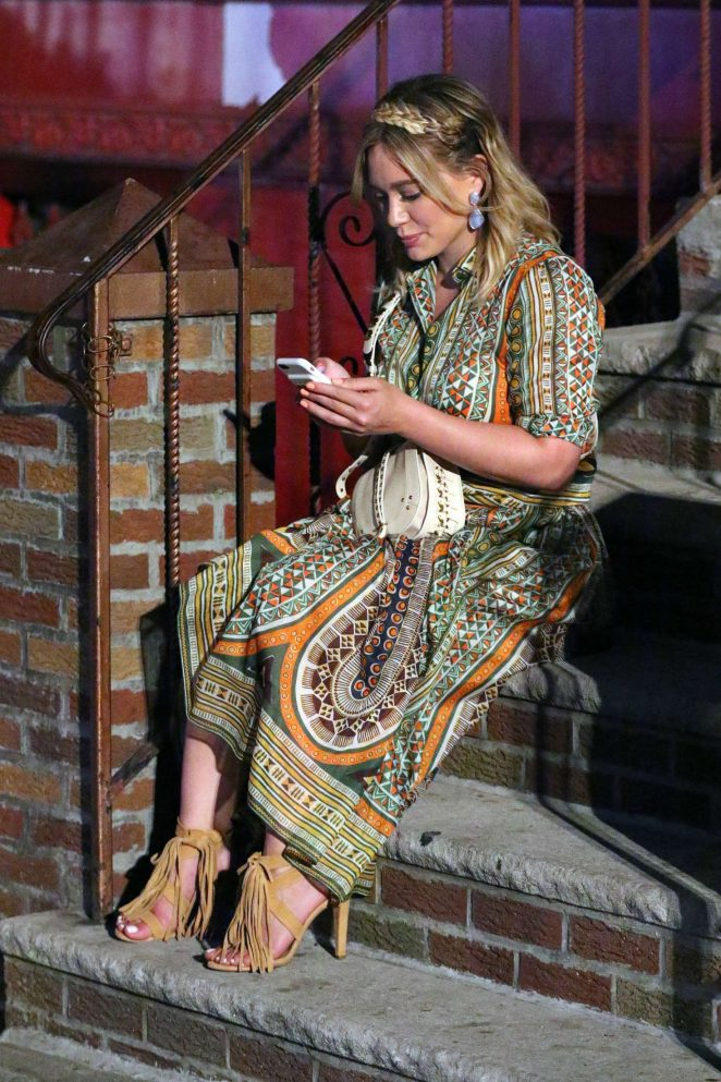 Hilary Duff: On the Set of Younger -03