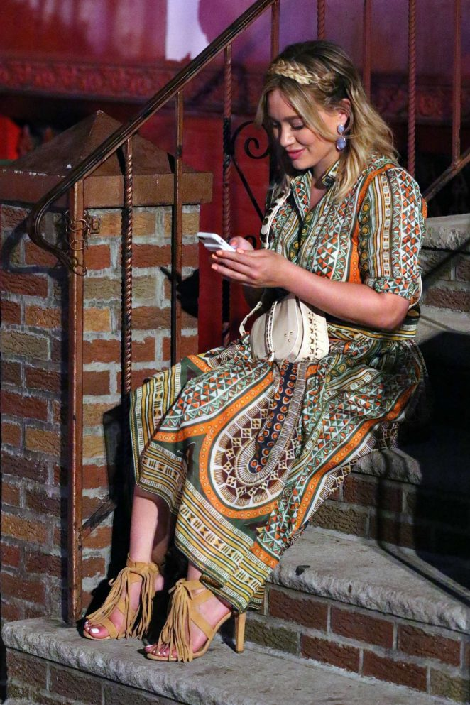 Hilary Duff: On the Set of Younger -07