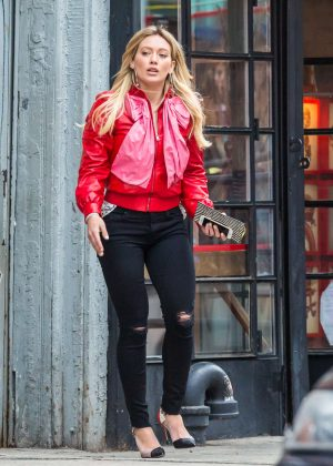 Hilary Duff on the set of 'Younger' in New York
