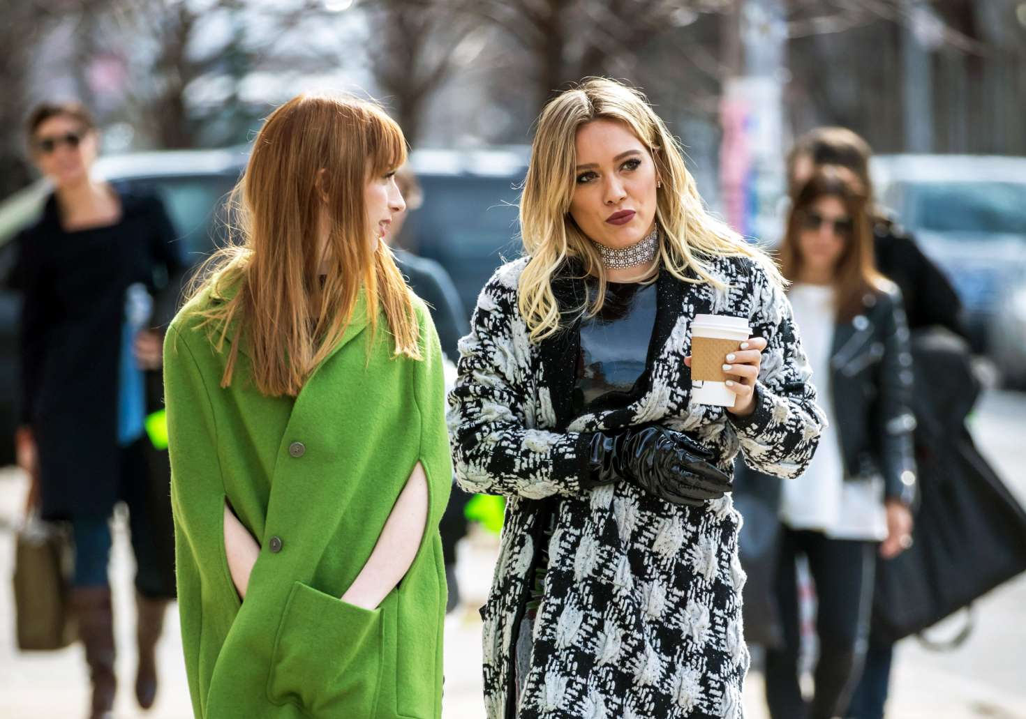 Hilary Duff on the set of 'Younger' in NY