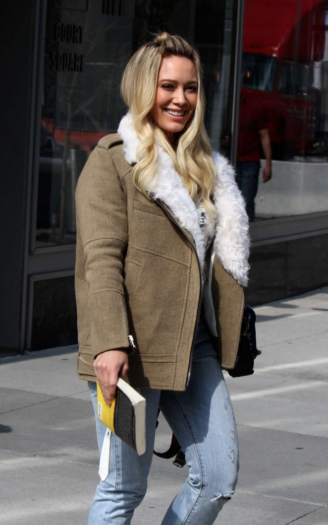 Hilary Duff on 'Younger' set at the CUNY School of Law in Queens