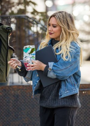 Hilary Duff on 'Younger' set in New York City