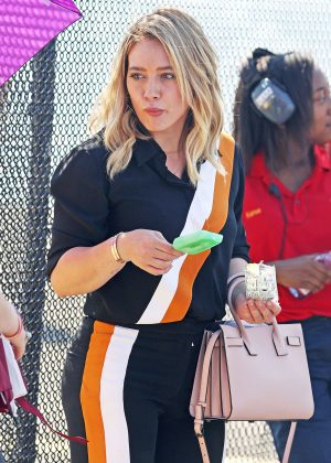 Hilary Duff - On 'Younger' set in New York City