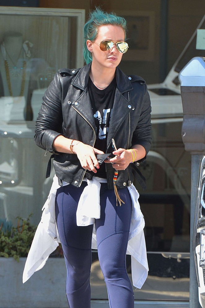 Hilary Duff - Out and about in Beverly Hills