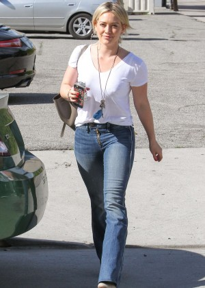 Hilary Duff in Jeans Out in Los Angeles
