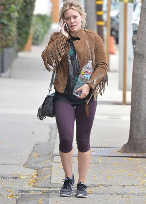 Hilary Duff in Tight Leggings Out in West Hollywood