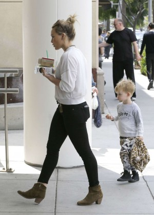 Hilary Duff out getting coffee in Beverly Hills