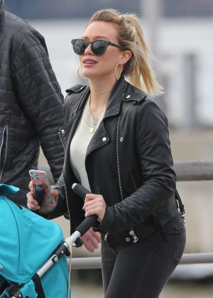 Hilary Duff out in New York City