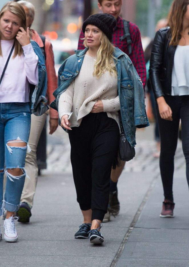 Hilary Duff: Out in NYC -18