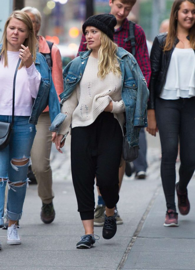 Hilary Duff: Out in NYC -20