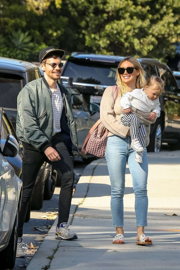 Hilary Duff - Out with baby Banks in Beverly Hills