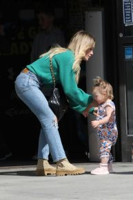 Hilary Duff - out with her kids in Studio City