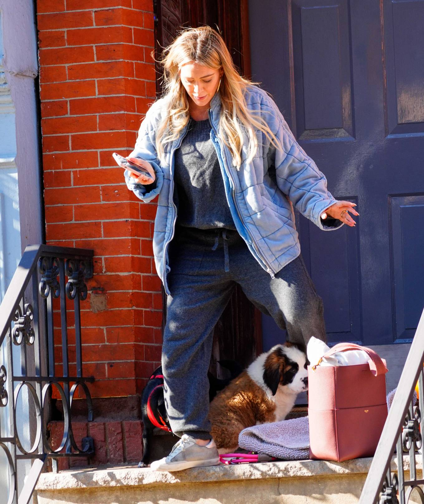 Hilary Duff 2020 : Hilary Duff – Out with her new puppy in NYC-01