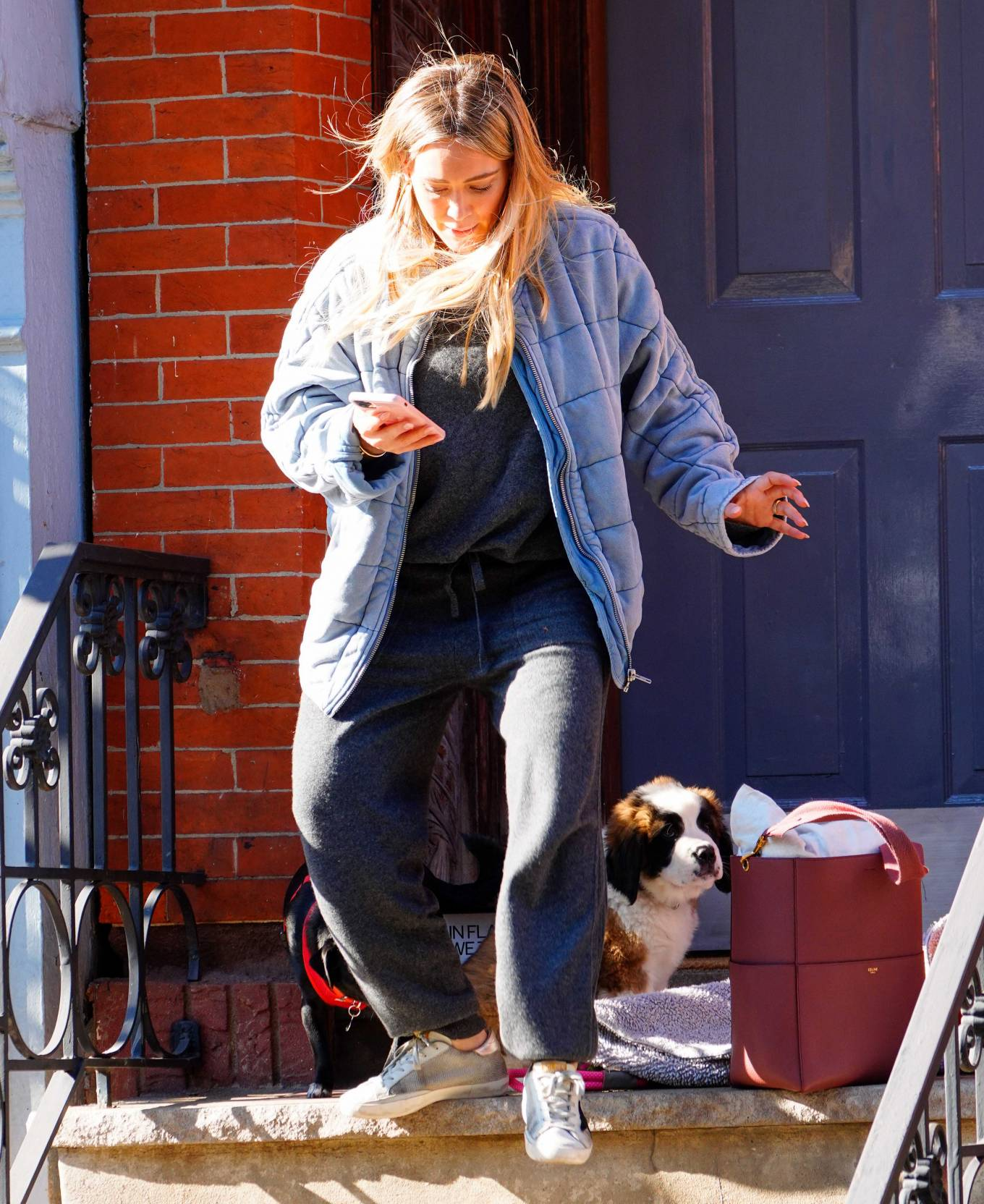 Hilary Duff 2020 : Hilary Duff – Out with her new puppy in NYC-02