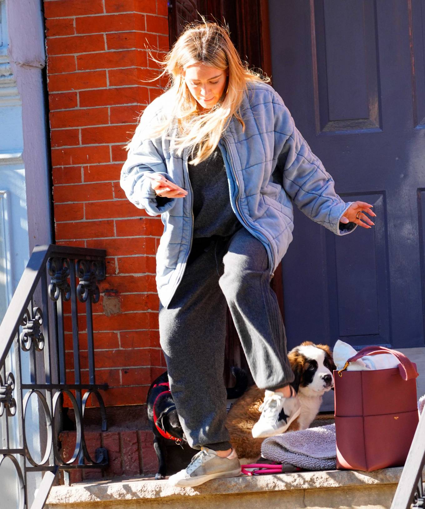 Hilary Duff 2020 : Hilary Duff – Out with her new puppy in NYC-03