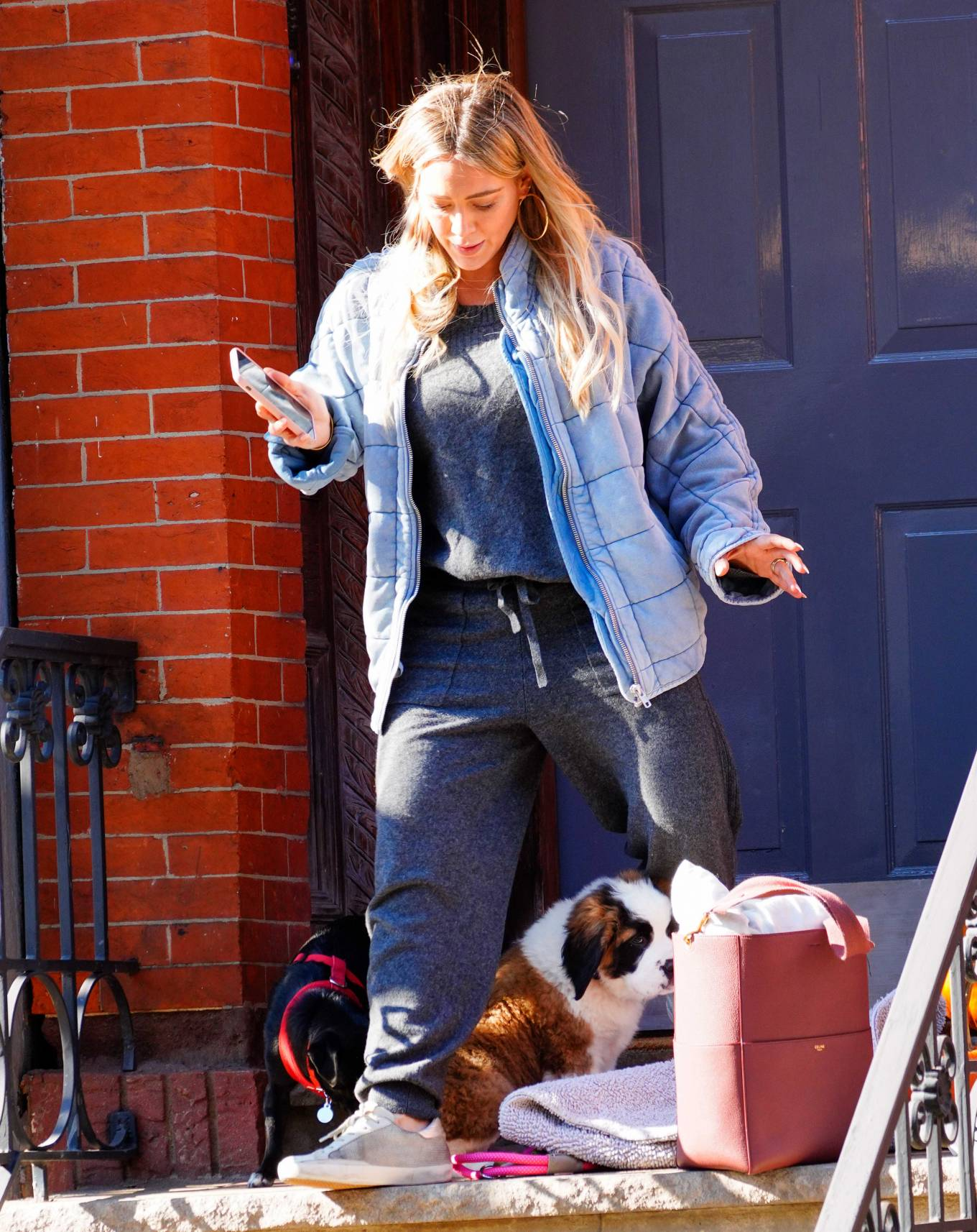 Hilary Duff 2020 : Hilary Duff – Out with her new puppy in NYC-08