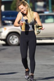 Hilary Duff - Seen leaving a pilates in Sherman Oaks