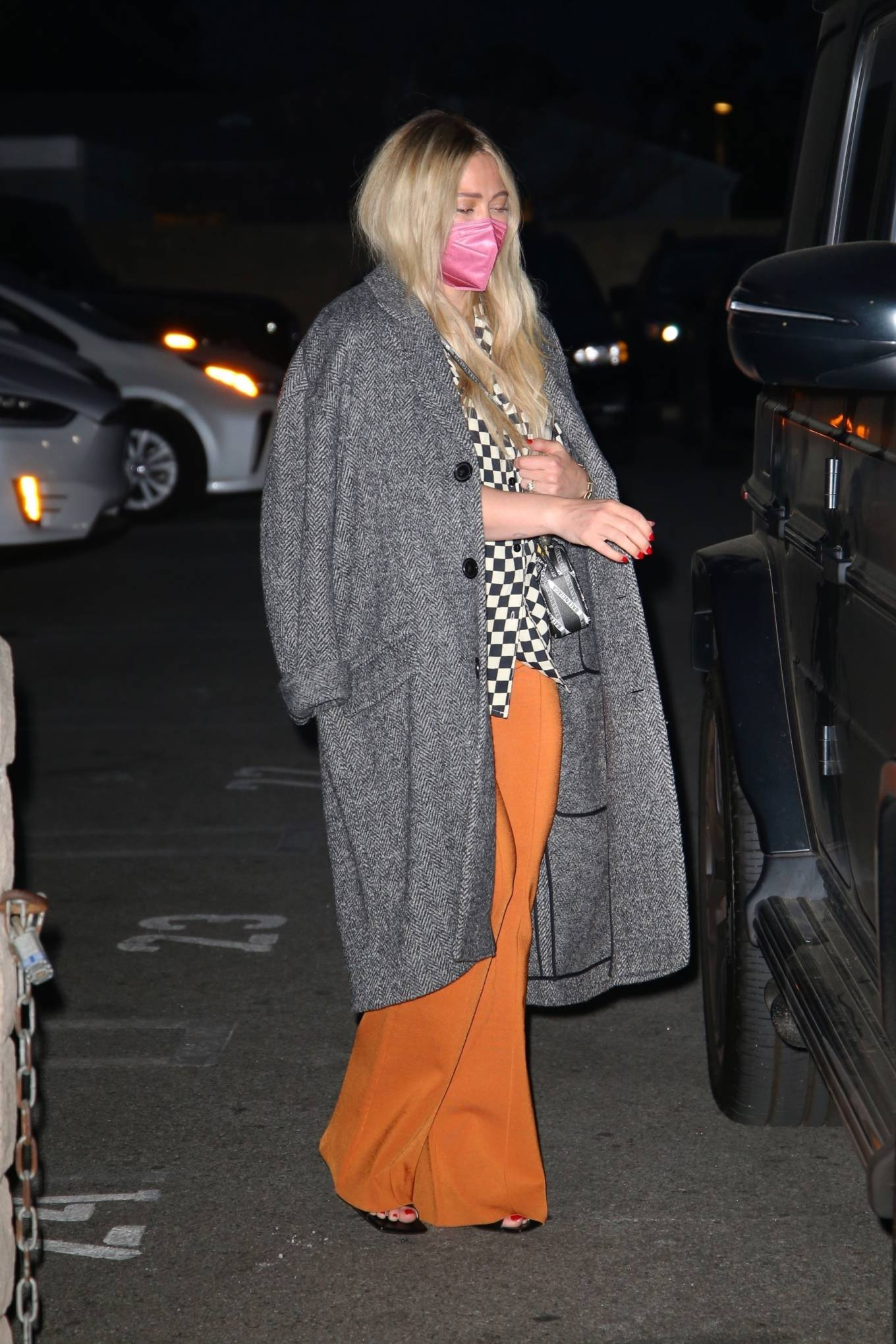 Hilary Duff 2021 : Hilary Duff – Seen leaving Matsuhisa restaurant in Beverly Hills-03