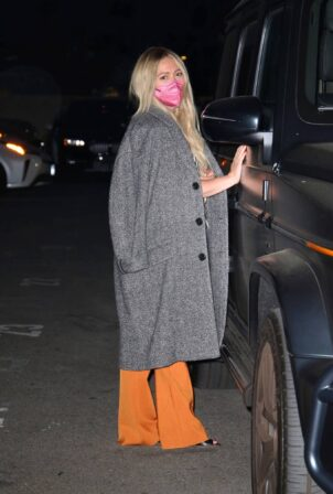 Hilary Duff - Seen leaving Matsuhisa restaurant in Beverly Hills