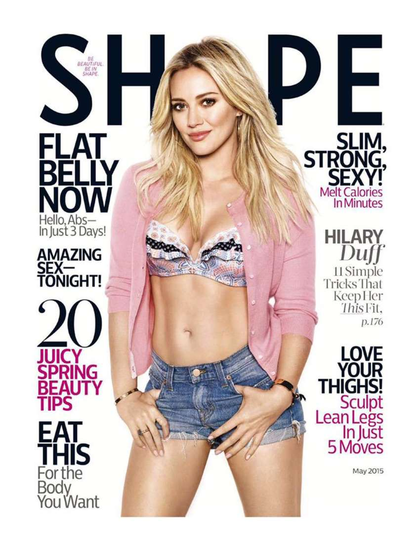Hilary Duff - Shape Cover Magazine (May 2015)
