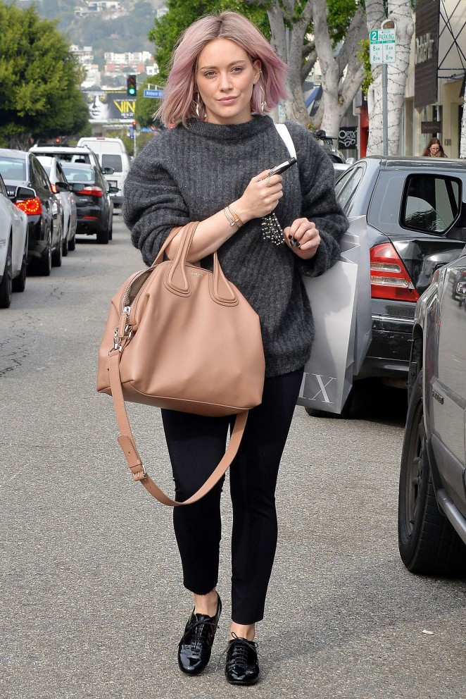 Hilary Duff – Shopping at Intermix in West Hollywood