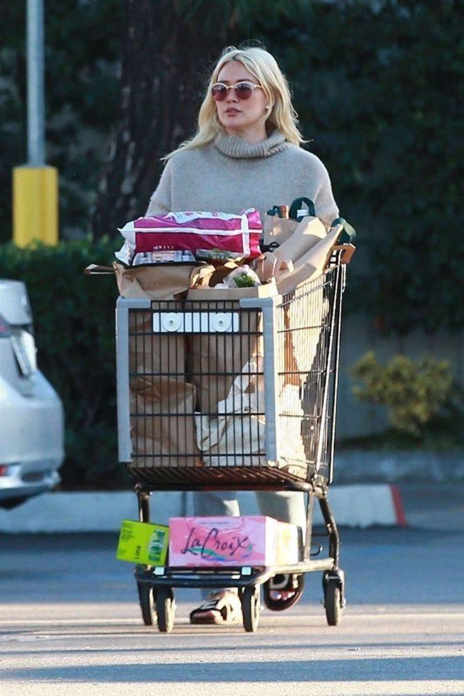 Hilary Duff 2019 : Hilary Duff: Shopping at Ralphs Supermarket -05