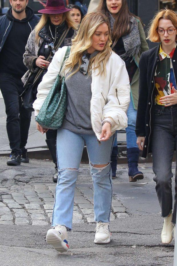 Hilary Duff: Shopping in NYC -01