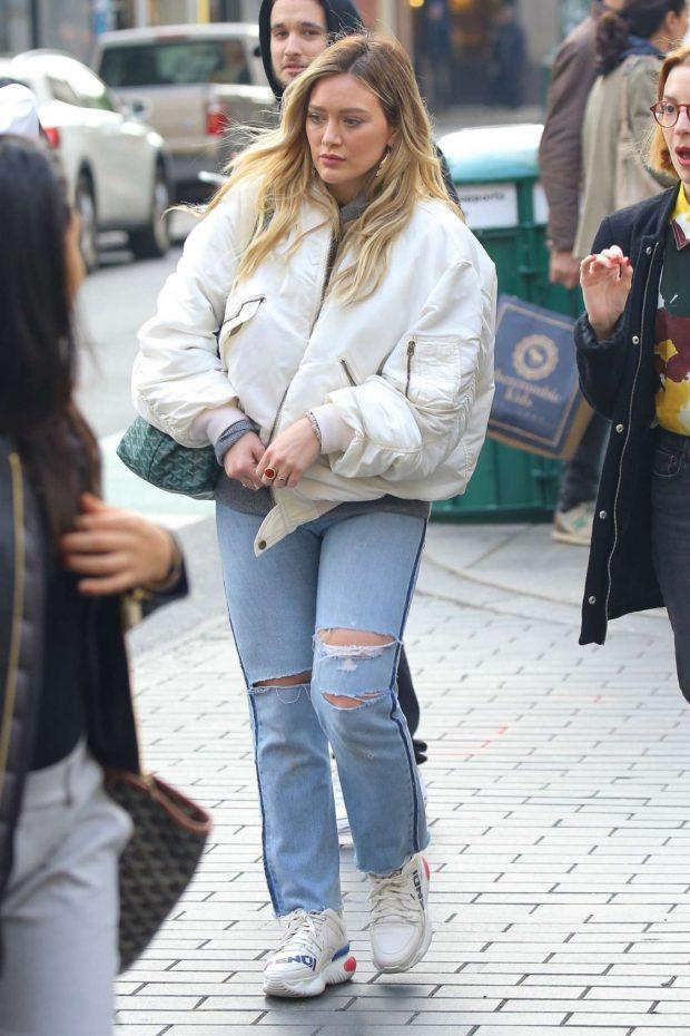 Hilary Duff: Shopping in NYC -10