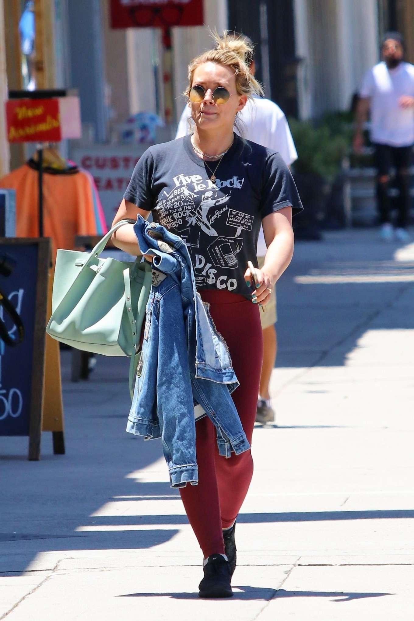 Hilary Duff - Shopping in Studio City