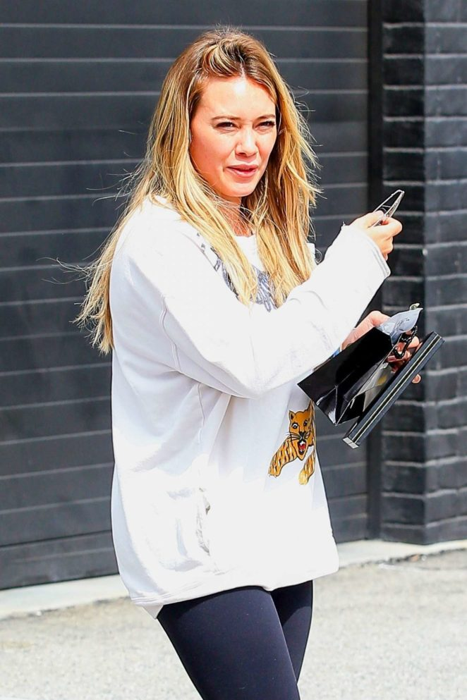 Hilary Duff - Spotted at XIV Karats in Beverly Hills