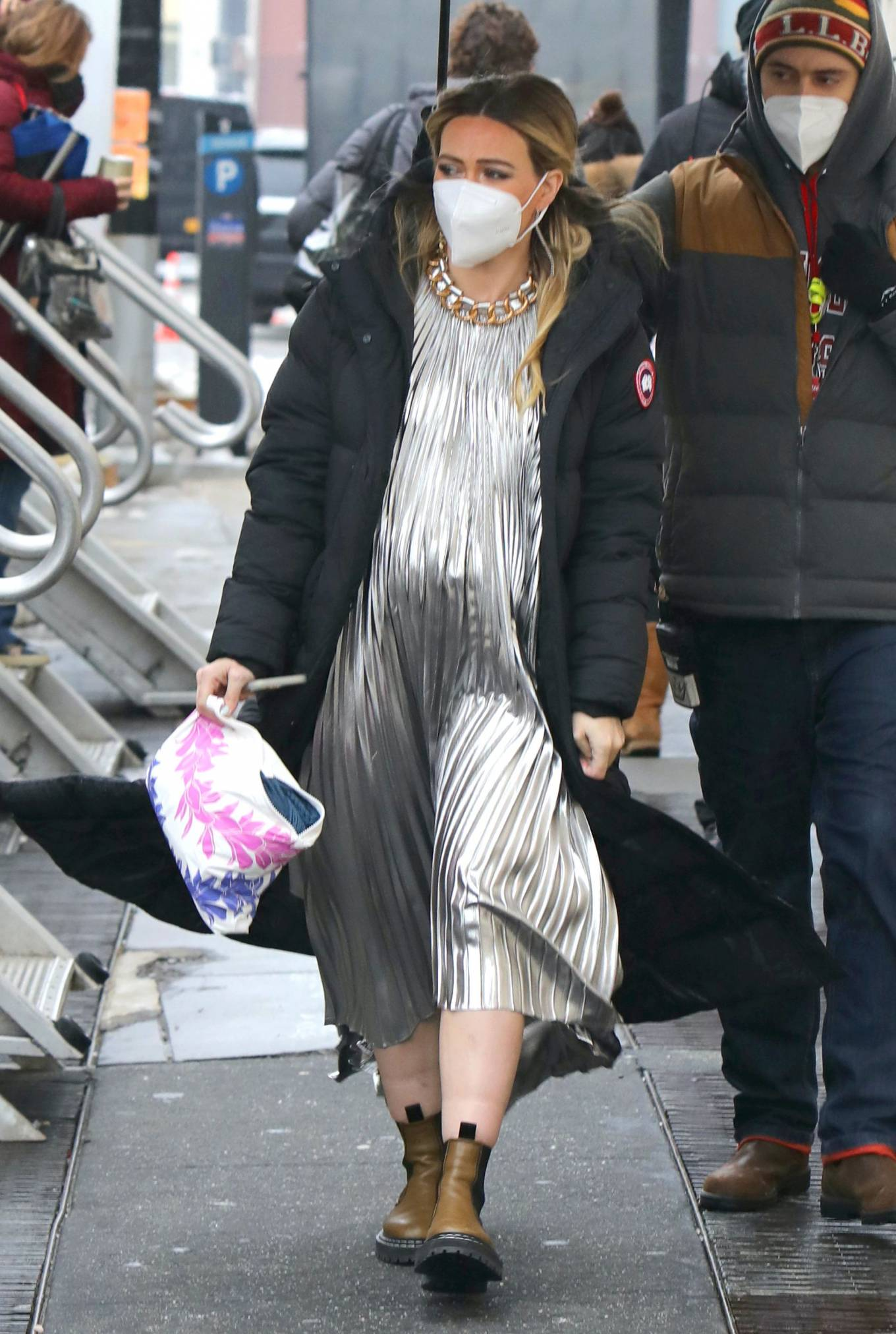 Hilary Duff - Spotted at 'Younger' set in New York
