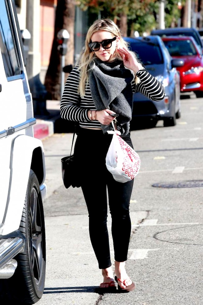 Hilary Duff: Spotted while leaving a Salon in LA-04