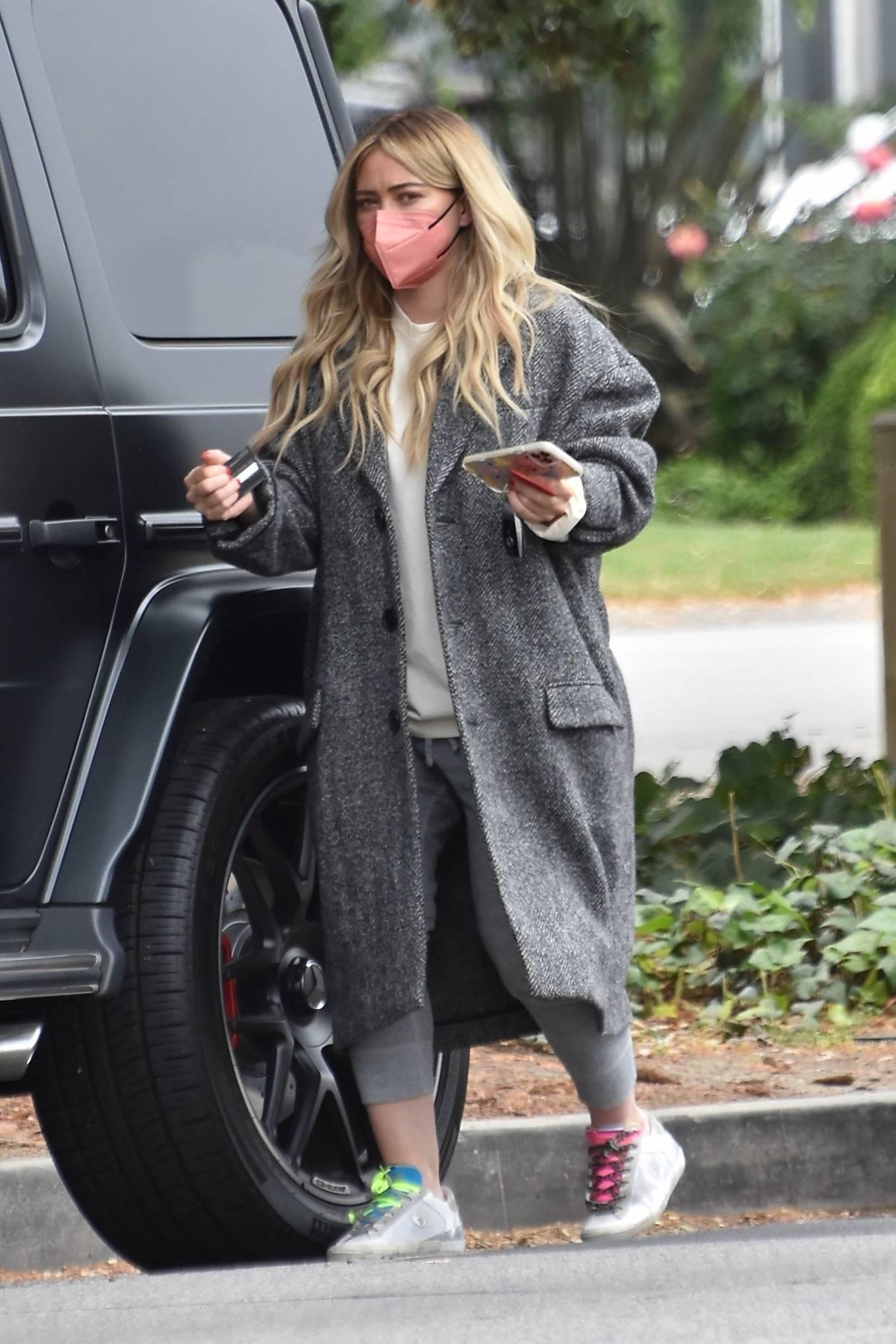 Hilary Duff 2021 : Hilary Duff – Steps out for a walk through Studio City-04