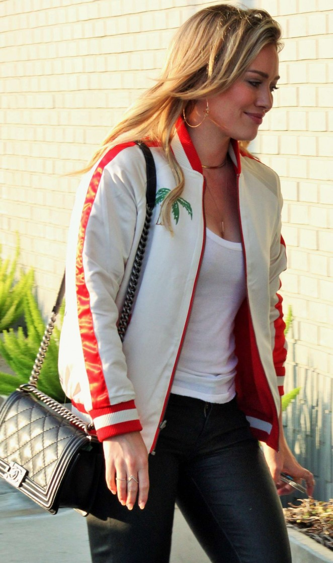 Hilary Duff: Studio session with fans in Hollywood -01 ... Hilary Duff Fan